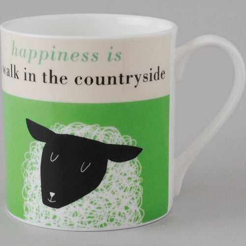 Happiness Sheep Mug - Green