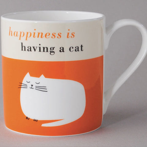 Happiness Catnap Mug - Orange