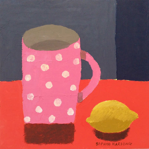 Sophie Harding - Pink Spotty Cup and Lemon (Original)