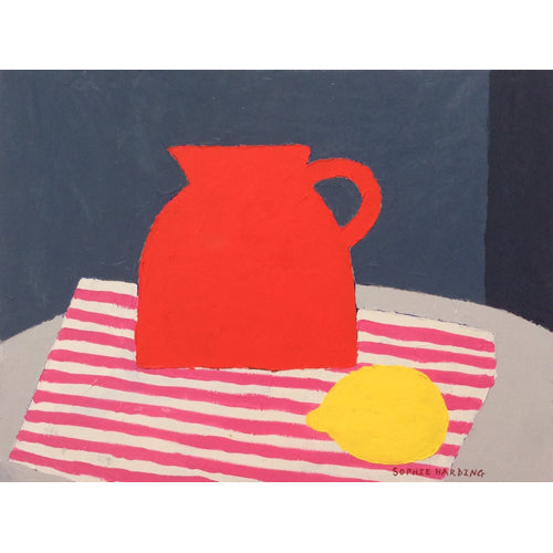 Sophie Harding - Red Jug and Stripey Paper Bag (Original)
