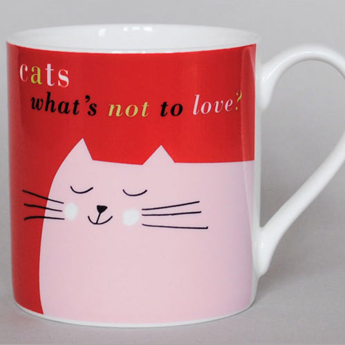 Smile Catface Mug - Red