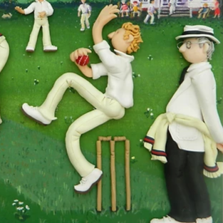Erica Sturla - The Cricket Match - Limited edition print