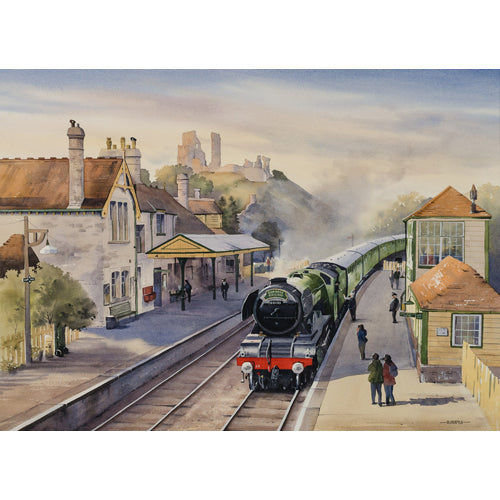 Oliver Pyle - A Distinguished Guest at Corfe Castle  (Original