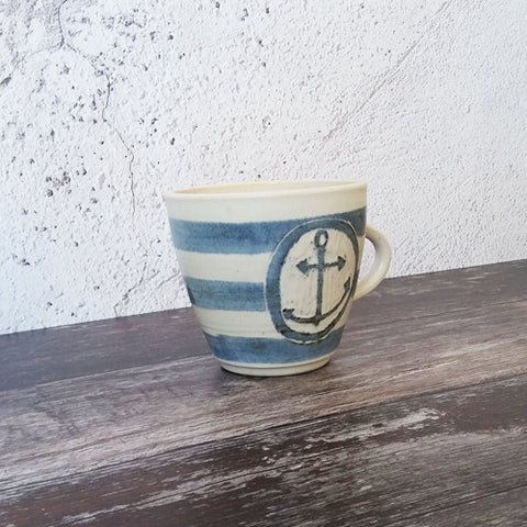 Laura Lane - Anchor Striped Mug