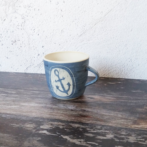 Laura Lane - Blue Anchor Mug