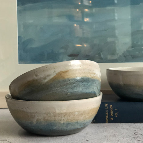 "Kara Leigh Ford - ""At the Beach"" Stoneware Bowl"