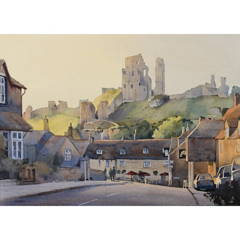 Oliver Pyle - Evening Approaches, Corfe Castle (Original)