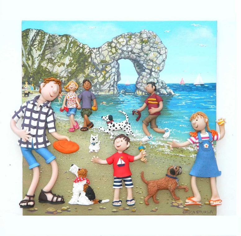 Erica Sturla - Dogs at Durdle Door