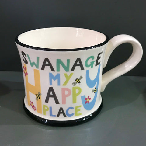 Moorland Pottery - Swanage Happy Place Mug