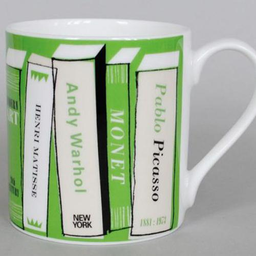 Gallery Art Books Mug - Green
