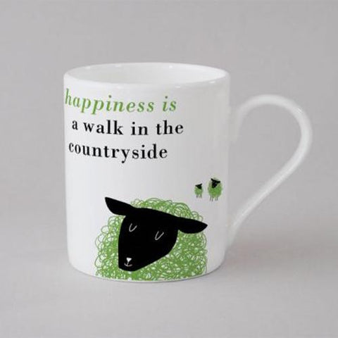 Happiness Sheep Mug Small - Green