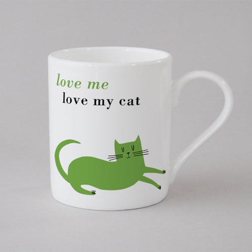 Happiness Cat Mug Small - Green