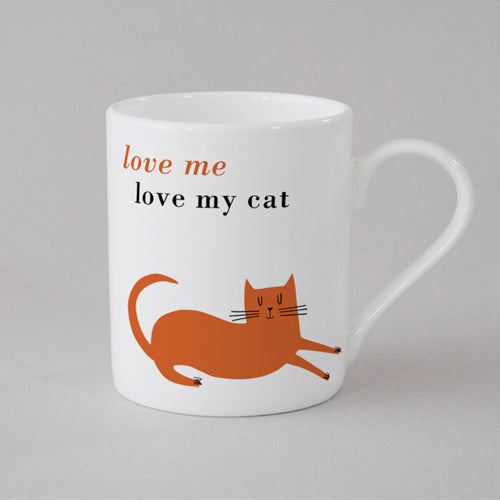 Happiness Cat Mug Small - Orange