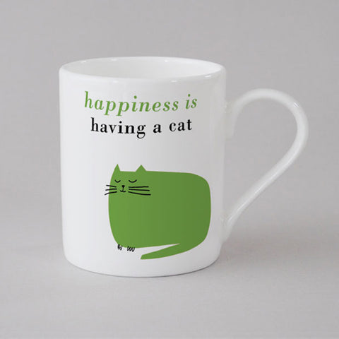 Happiness Catnap Mug Small - Green