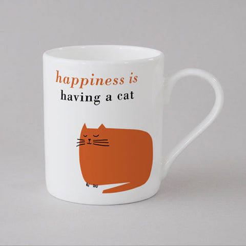 Happiness Catnap Mug Small - Orange
