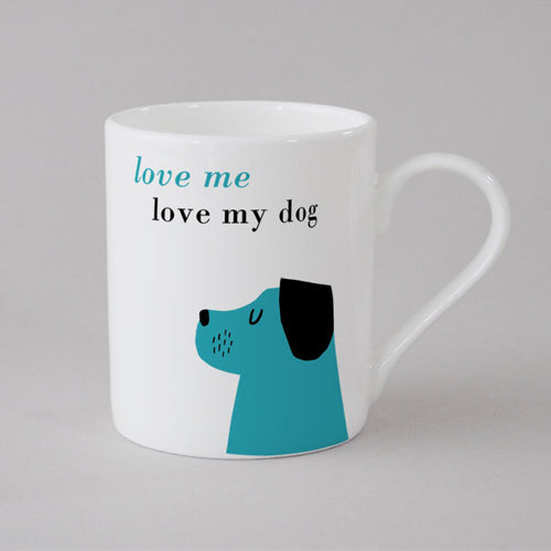 Happiness Dog Mug Small - Turquoise