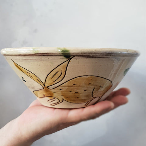 Rosemary Jacks - Large Hare Bowl