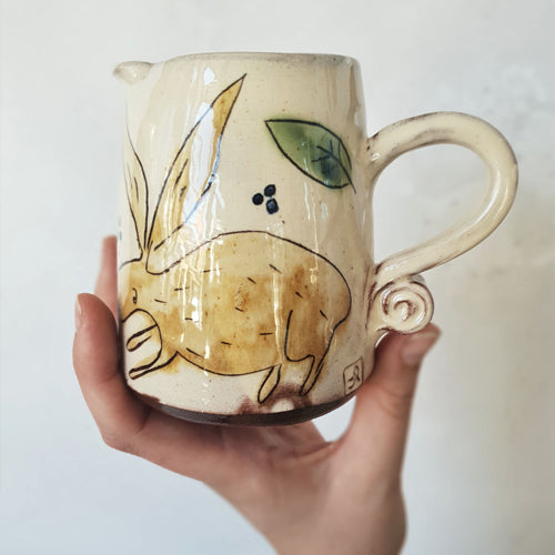 Rosemary Jacks - Large Hare Milk Jug