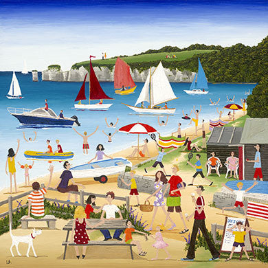 Louise Braithwaite - South Beach, Studland (Limited Edition Print)