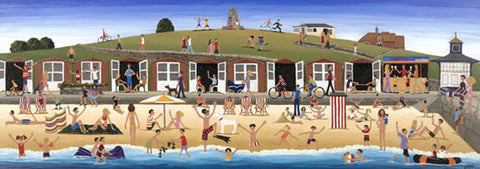 Louise Braithwaite - Swanage Beach (Limited Edition Print)