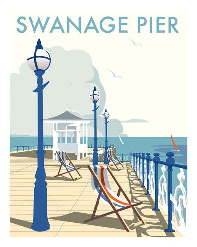 David Thompson - Swanage Pier (Print)