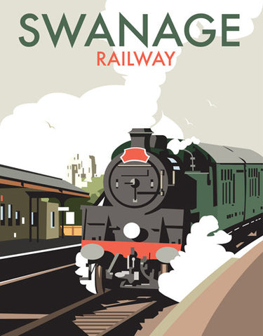 David Thompson - Swanage Railway (Print)