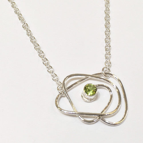 Abby Filer - Peridot Wrap Pendant