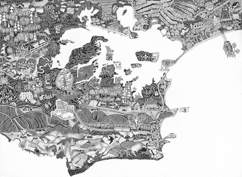 Gareth Fuller - Isle of Purbeck Map (Limited Edition Print)
