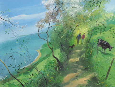 Nicholas Hely Hutchinson - Cliff Walk in the Spring (Limited Edition Print)