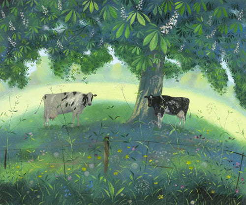 Nicholas Hely Hutchinson - Cows Under a Horse Chestnut Tree (Limited Edition Print)