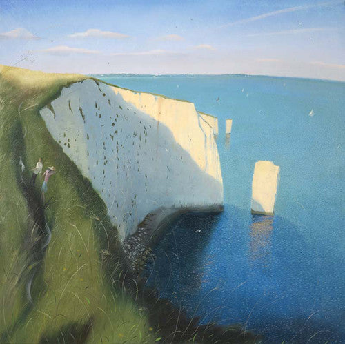 Nicholas Hely Hutchinson - On the Cliffs Near Old Harry (Limited Edition Print)