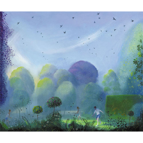 Nicholas Hely Hutchinson - Tennis in the Garden with Gathering Rooks (Limited Edition Print)