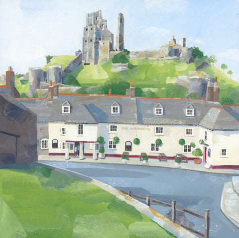 Claire Henley - Corfe Castle (Limited Edition Print)
