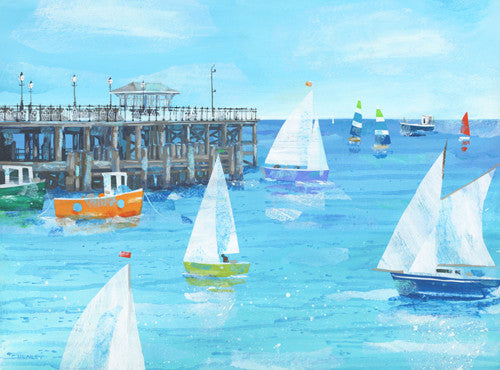 Claire Henley - Round the Pier - Swanage (Limited Edition Print)