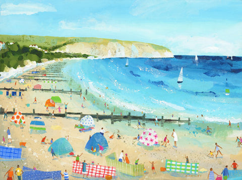 Claire Henley - Swanage Beach (Limited Edition Print)