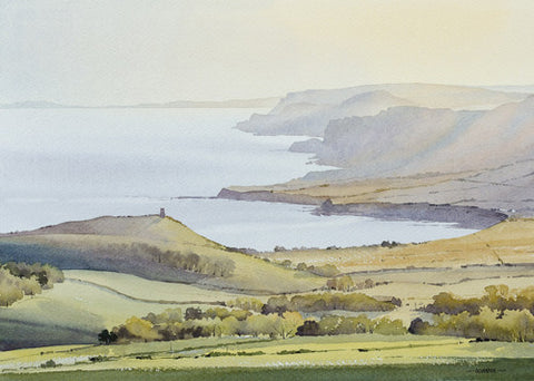 Oliver Pyle - Evening Haze, Kimmeridge (Limited Edition Print)