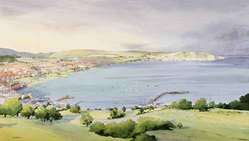 Oliver Pyle - And the Sun Broke Through, Swanage Bay (Limited Edition Print)