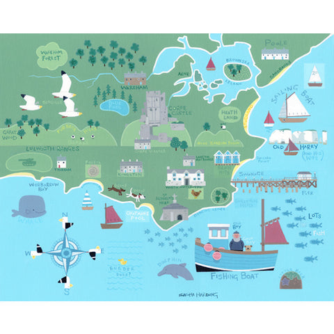 Sasha Harding - Purbeck Map (Original)
