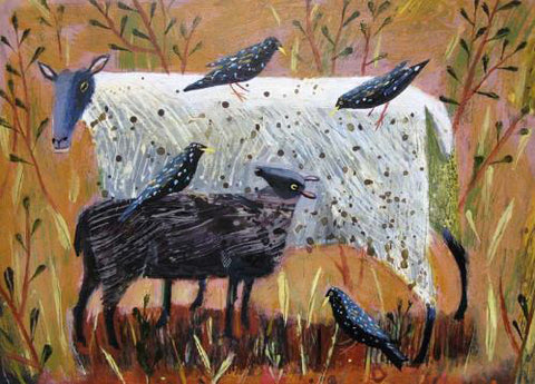 Mary Sumner - Black Lamb & Starlings (Limited Edition Prints)