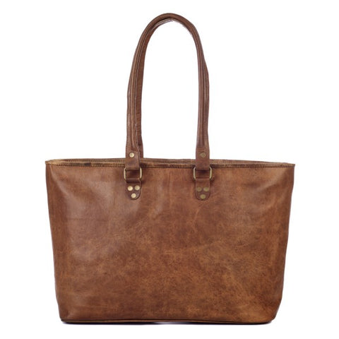 Paper High - Large Leather Shopping Bag