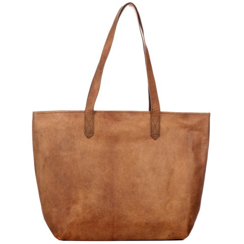 Paper High - Leather Shopper Bag