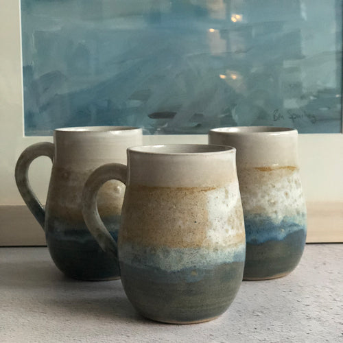 "Kara Leigh Ford - ""At the Beach"" Stoneware Mug"