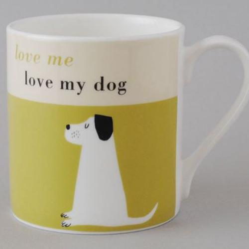 Happiness Dog Bone Mug - Olive