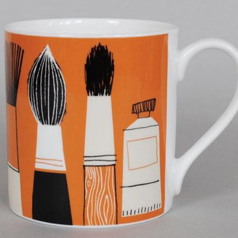 Gallery Pencil Mug - Orange