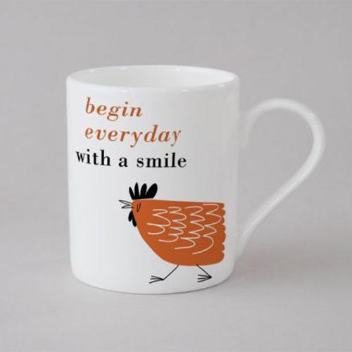Happiness Chicken Mug Small - Orange