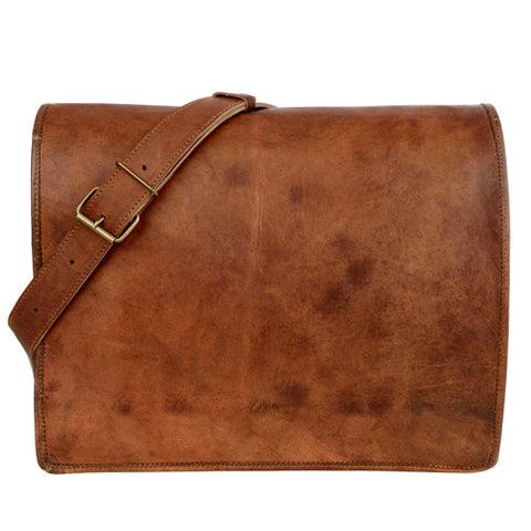Paper High - Leather Courier Bag (Large)