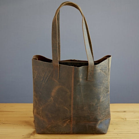 Paper High - Buffalo Leather Shopping Bag