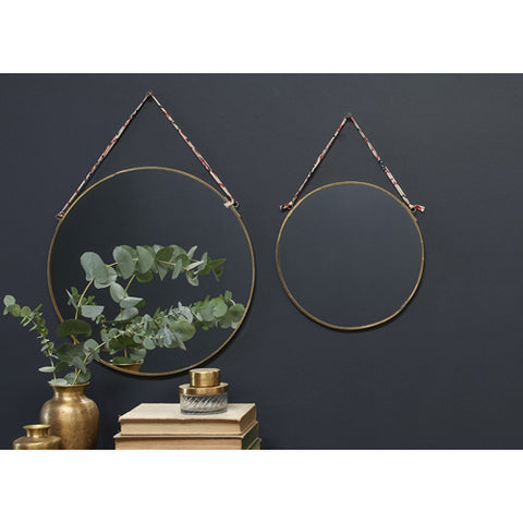 Mirror: Kiko Antique Brass Round Mirror