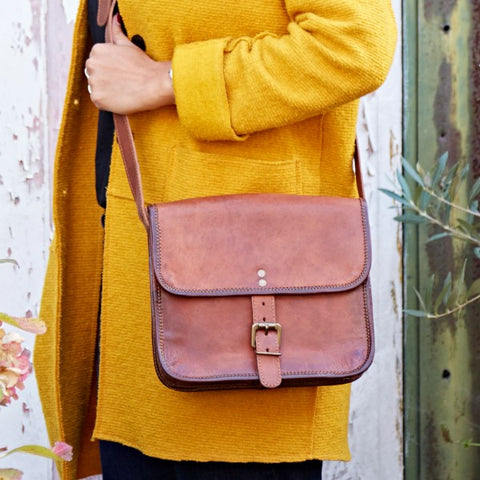 Paper High - Small Leather Shoulder Bag