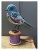 Annette Mackie Handmade - Cotton Reel Teal & Purple Bird